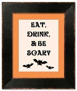 Be Scary Framed Print