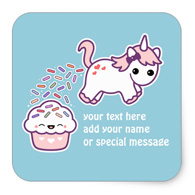 Pooping Unicorn Stickers